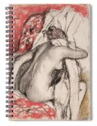 After The Bath.seated Woman Drying Herself Spiral Notebook
