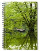 After The Rain On The Valley River Spiral Notebook