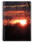After The Snow Sunset Spiral Notebook