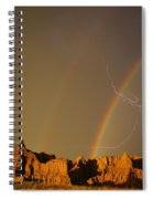 After The Storm - Lightning And Double Rainbow Spiral Notebook
