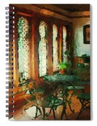 Afternoon At Le Cafe Des Vignes Spiral Notebook