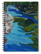 Afternoon At Frood Lake Outlet Spiral Notebook