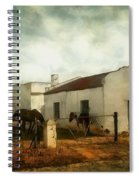 Afternoon At Lone Tree Ranch Spiral Notebook
