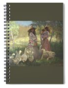Afternoon Gathering Spiral Notebook