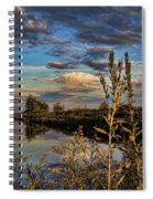 Late Afternoon In The Mead Wildlife Area Spiral Notebook