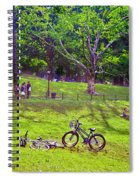 Afternoon In The Park With Friends Spiral Notebook