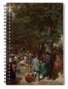 Afternoon In The Tuileries Gardens Spiral Notebook