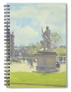 Afternoon In The Tuileries, Paris Oil On Canvas Spiral Notebook
