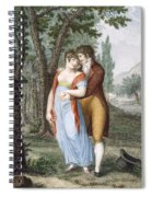 Afternoon Near St. Gervais, Engraved Spiral Notebook