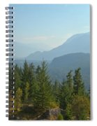 Afternoon Smoke At The Tantalus Mountains Spiral Notebook