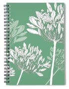Agapanthus Breeze Spiral Notebook