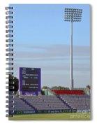 Ageas Bowl Score Board And Floodlights Southampton Spiral Notebook