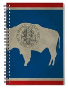 Aged Wyoming State Flag Spiral Notebook