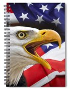 Aggressive Eagle And United States Flag Spiral Notebook