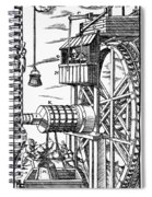 Agricola Waterwheel, 1556 Spiral Notebook