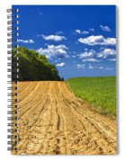 Agricultural Landscape - Young Corn Field Spiral Notebook