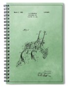 Agriculture Plow Patent Spiral Notebook