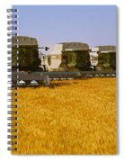 Agriculture - Six Gleaner Combines Spiral Notebook