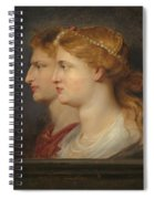 Agrippina And Germanicus Spiral Notebook