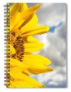 Ah Sunflower Spiral Notebook