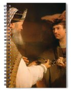 Ahimelech Giving The Sword Of Goliath To David Spiral Notebook