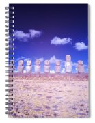 Ahu Tongariki Infrared Spiral Notebook