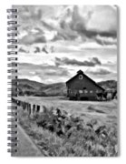 Ah...west Virginia Oil Bw Spiral Notebook