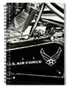 Air Force Motorcycle Spiral Notebook