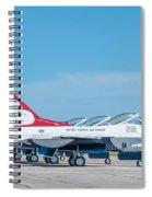Air Show Thunderbirds  Spiral Notebook