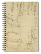 Aircraft The Machine Has Been Reduced To The Simplest Shape Spiral Notebook