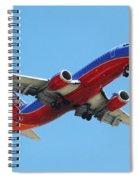 Airliner Landing At Sky Harbor Phoenix Arizona Spiral Notebook