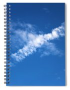 Airplane Cloud Spiral Notebook