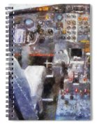 Airplane Cockpit Photo Art Spiral Notebook