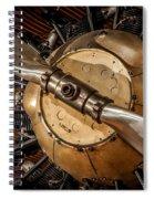 Airplane Motor Spiral Notebook