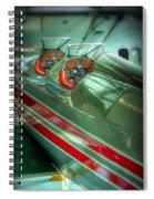 Airplane Vintage Yesterday Spiral Notebook