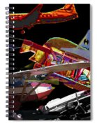 Airplanes Collage  Spiral Notebook