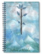 Airy Ace Of Wands Spiral Notebook
