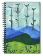 Airy Four Of Wands Spiral Notebook