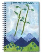 Airy Two Of Wands Spiral Notebook