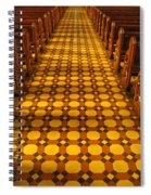 Church Aisle Patterned Floor Spiral Notebook