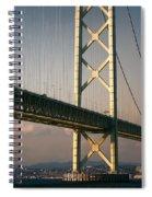 Akashi Kaikyo Bridge Sunset Spiral Notebook