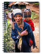 Akha Tribe II Paint Filter Spiral Notebook