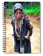Akha Tribe Paint Filter Spiral Notebook