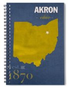 Akron Zips Ohio College Town State Map Poster Series No 007 Spiral Notebook