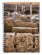 Akrotiri Archaeological Site In Santorini Spiral Notebook