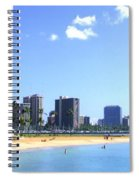 Ala Moana Beach Park And Diamond Head Spiral Notebook