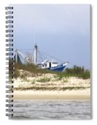 Alabama - Gulf Of Mexico Shrimper - Beautiful Day For Fishing Spiral Notebook