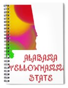 Alabama State Map Collection 2 Spiral Notebook