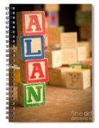 Alan - Alphabet Blocks Spiral Notebook