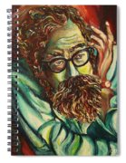 Alan Ginsberg Poet Philosopher Spiral Notebook
